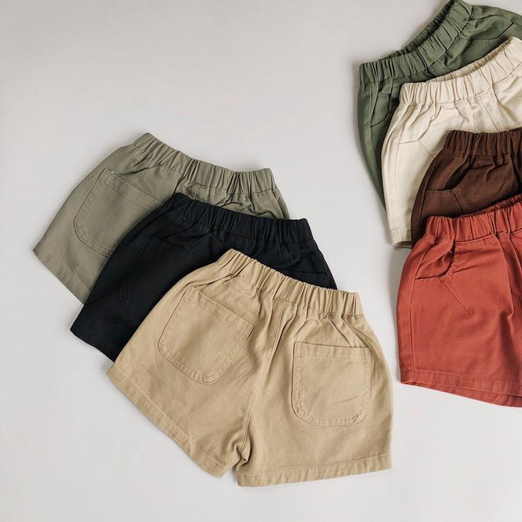 Quần short cho bé phong cách hàn quốc chất liệu Linen 9 đến 30kg