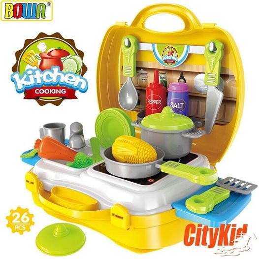 Bộ đồ chơi vali nấu ăn Bowa cho bé