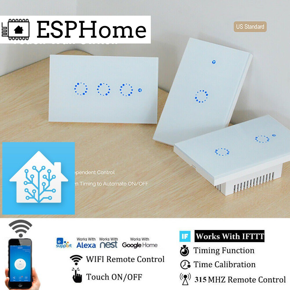 Mua Công tắc wifi Sonoff T1 US 1,2,3 nút + Flash Tasmota