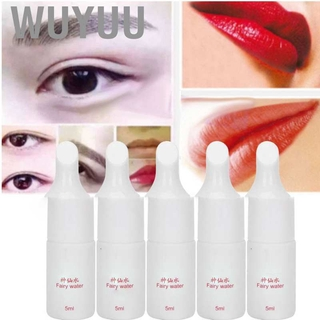 Wuyuu Microblading Pigment Fixing Agent Eyebrow Lip Tattoo Color Lock Repair Liquid 5ml x 5pcs