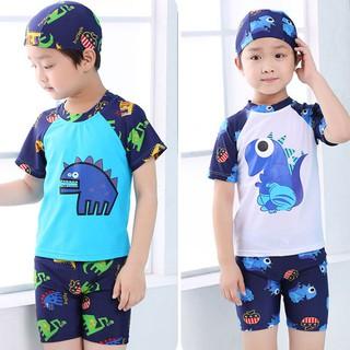 Bộ đồ bơi bé trai dạng short kèm mũ bơi BK-335i