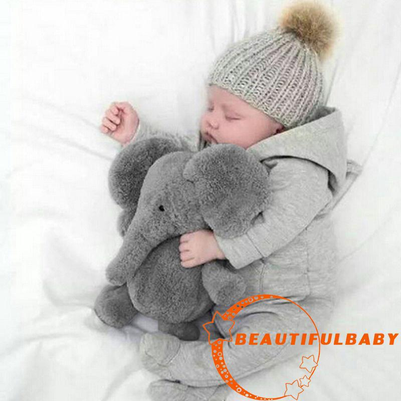 BღBღChristmas Gift Infant Baby Child Elephant Lumbar Pillow Long Nose Doll