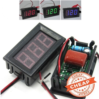 [Ready Stock] AC 220V 2-wire Voltage Meter Head LED Digital Voltmeter with Reverse Polarity Protection
