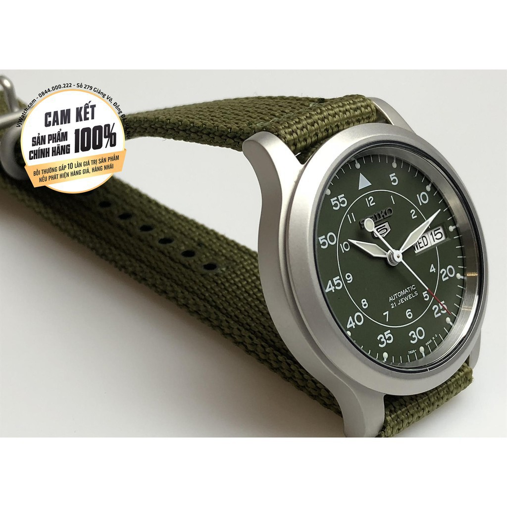 Đồng hồ nam Seiko 5 quân đội SEIKO chính hãng ♥ FREESHIP ♥ TẶNG 1 DÂY DA BÒ  size mặt 37mm, 42mm dây Nato