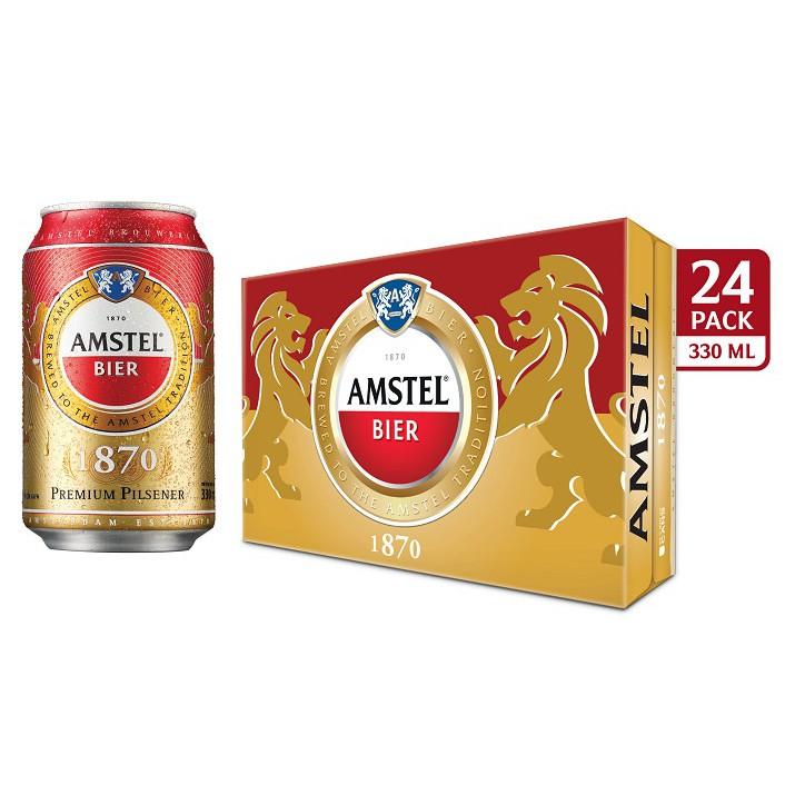 [Nhập AMSTEL15 giảm 15% tối đa 50k]Thùng 24 Lon Bia Amstel 330ml