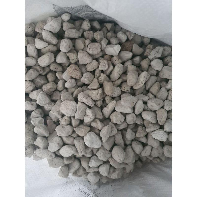 1kg Đá Pumice Đá bọt núi lửa size 10 - 20mm Đá lót chậu