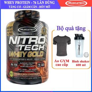 Sữa tăng cơ Nitro Tech 100% Whey Gold của Muscle tech hương socola hộp 76 lần dùng - Phân phối chính thức thumbnail