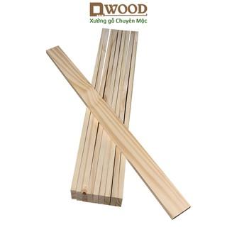 10 Thanh gỗ thông DWOOD đã xử lý đóng kệ tầng, nan giường -nan gỗ thông, thanh pallet gỗ thông thumbnail