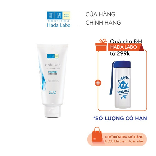 Kem rửa mặt dưỡng ẩm tối ưu Hada Labo Advanced Nourish Cleanser 80g