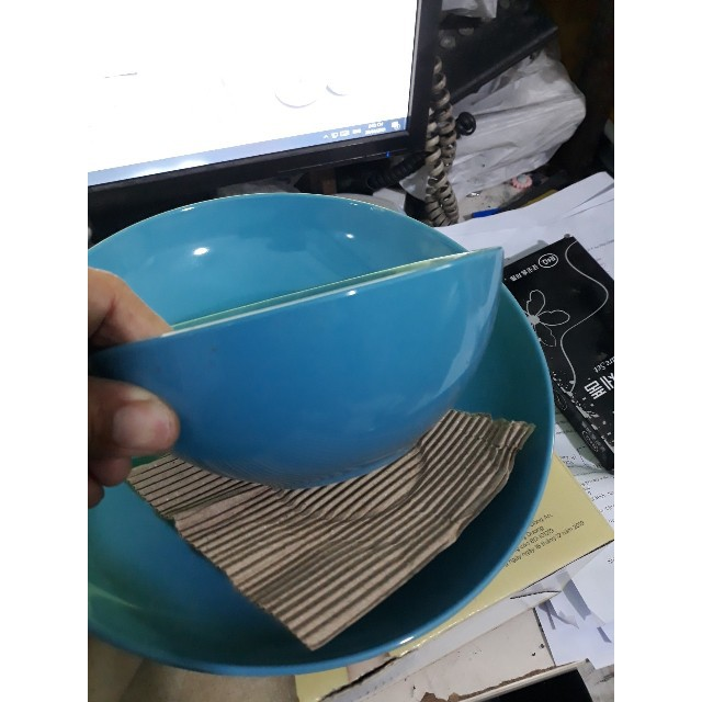 Bộ 1 tô+1 dĩa gốm tráng men màu xanh ngọc