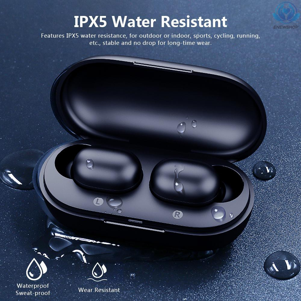 【enew】Haylou GT1 TWS Fingerprint Touch BT5.0 Earphones HD Stereo Wireless Headphones Binaural Call Earbuds Noise Cancelling Gaming Headset Voice Assistant Black