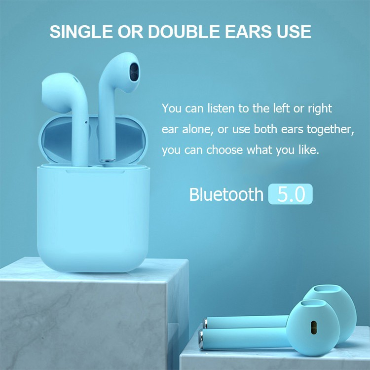 [𝘽𝙖̉𝙣 𝙉𝙖̂𝙣𝙜 𝘾𝙖̂́𝙥 𝟮𝟬𝟮𝟬] Tai nghe Bluetooth không dây Inpods i12s Đủ Bass Treble, Nghe Đều 2 Tai