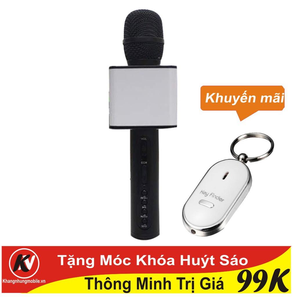 Combo Mic hát karaoke Bluetooth SD-08 loại 1 (Đen) Kim Nhung + Móc khóa huýt sáo