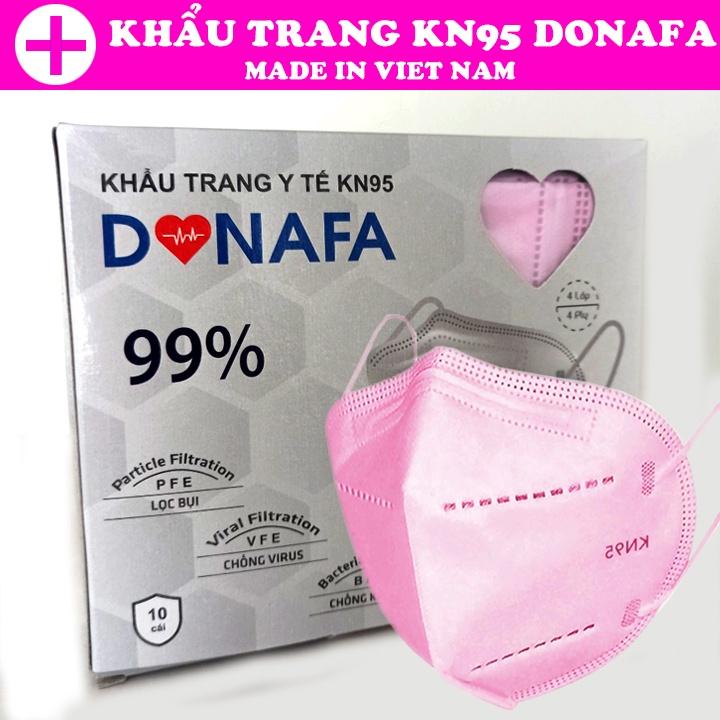 (Chỉ ship TPHCM) Hộp 10 khẩu trang 3D DONAFA tiêu chuẩn KN95