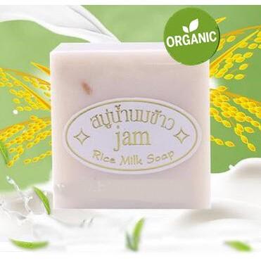 Xà phòng trắng da cám gạo Thái Lan (Jam Rice Milk Soap) 65g (Date 4/2022)