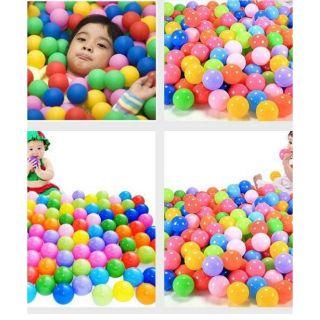 Sỉ 300 quả bóng nhựa nhiều màu cho bé vui chơi