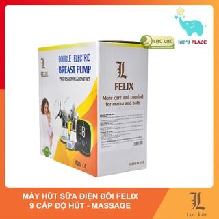 Máy hút sữa điện đôi Felix có massage, hút êm, nhỏ gọn, 9 cấp độ hút chuyên sâu