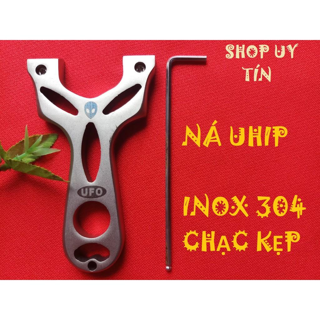 [FREESHIP 99K] NÁ CAO SU UHIP INOX CHẠC KẸP + 2 BỘ DÂY 1 MM