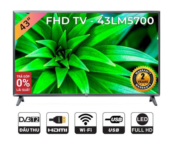 Smart Tivi LG 43 inch Full HD 43LM5700PTC - Model 2019 (Chính Hãng)