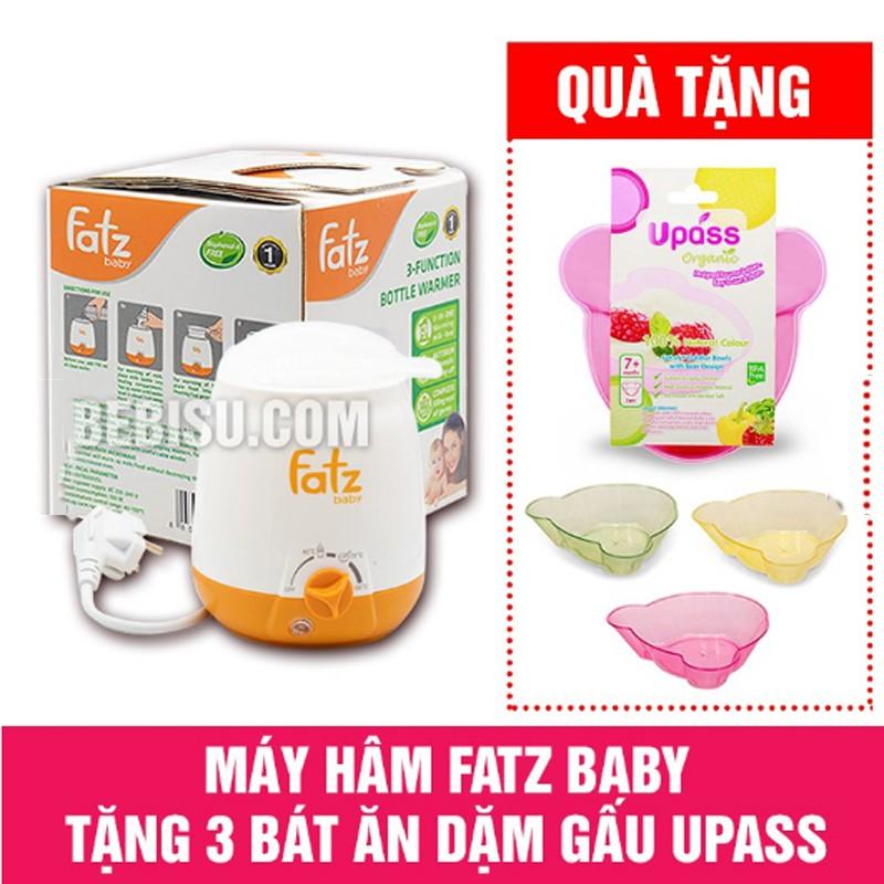 Máy hâm sữa Fatz baby 3 chức năng Tặng bộ 3 bát ăn dặm gấu Upass Thái Lan cho bé yêu