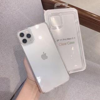 Ốp Clear Case Apple trong suốt cho iphone chống ố màu ôm máy có gờ bảo vệ cam 7plus/8plus/X/XSM/11/11promax/12/12promax