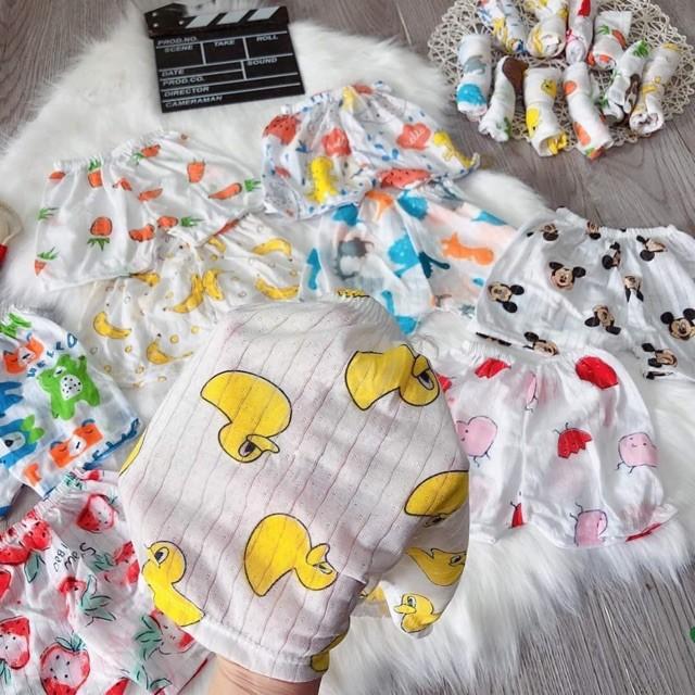 SET 05 Quần đùi cho bé sơ sinh, cotton giấy hàng đẹp