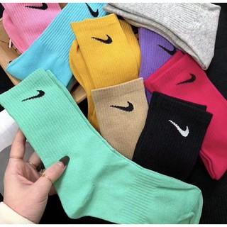[Mã FAMAYMA giảm 10K đơn 50K] 🌟FREESHIP🌟]Tất/Vớ Nike Full 14 màu thể thao cao cổ nam nữ hàng siêu đẹp cotton 100% XNK
