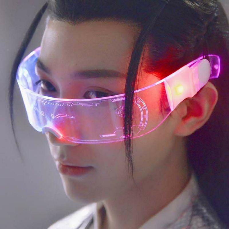 Kính phát sáng 3D,kính đèn led pro màu sắc RGB,kính mắt thông minh