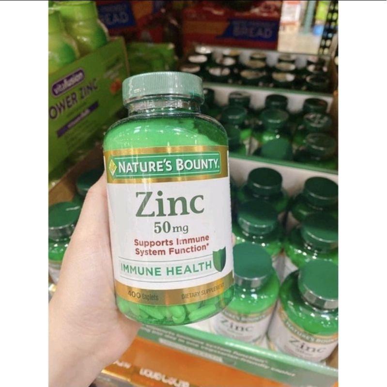 Nature's Bounty Zinc 50mg 400 viên hàng Mỹ