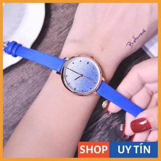 [Hàng Cao Cấp] - Đồng hồ nữ Doukou dây da mặt kim tuyến chuyển màu cực đẹp thumbnail