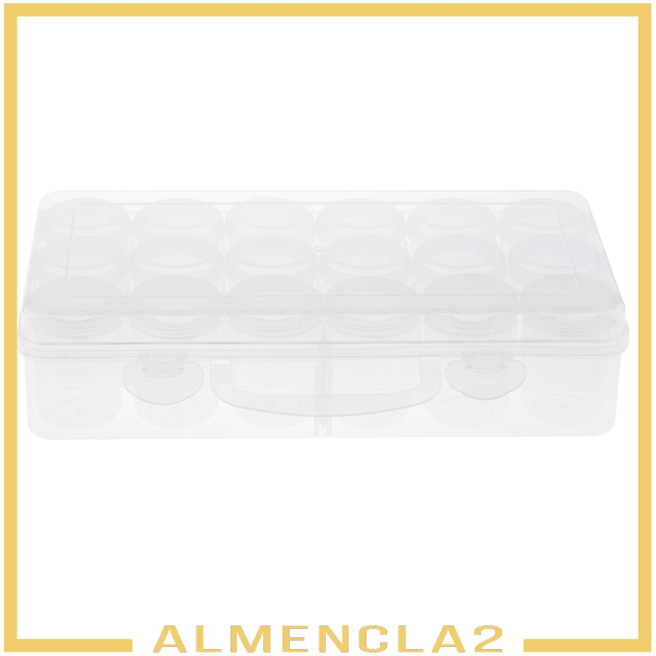 Hộp Nhựa Trong Suốt Đựng Ốc Vít 18 Ngăn 35mm Almencla2