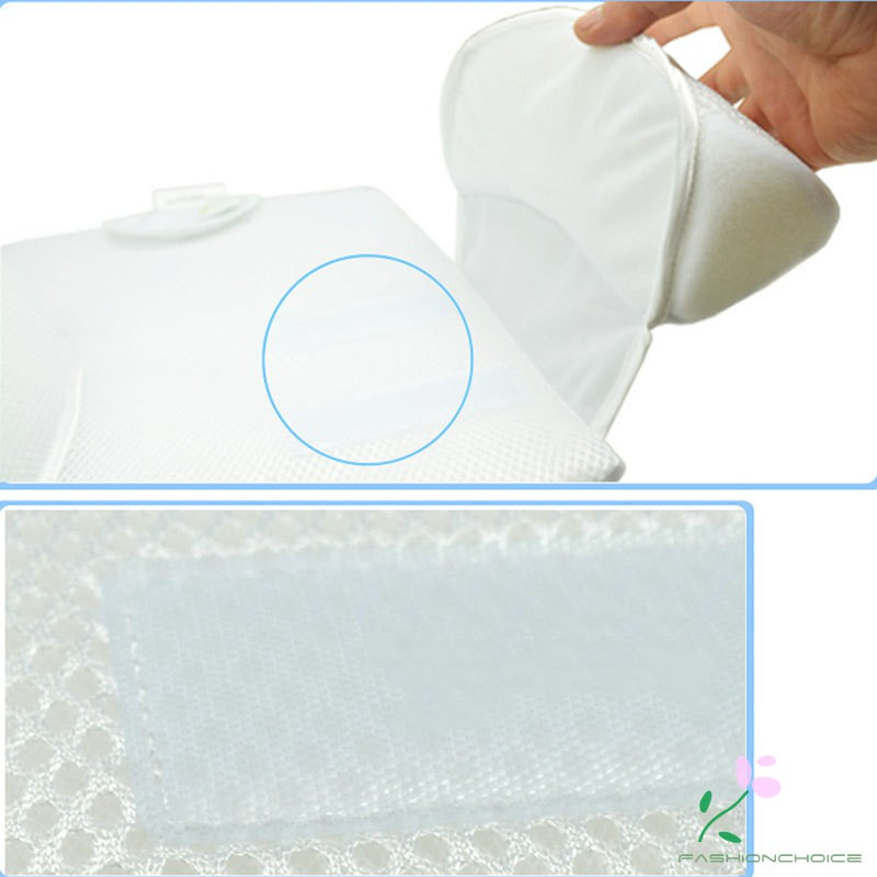 Newborn Sleeping Pillow Comfortable Infant Nursing Pad Rectangle Anti Roll Over Pillows Material For 0-4 Months Baby