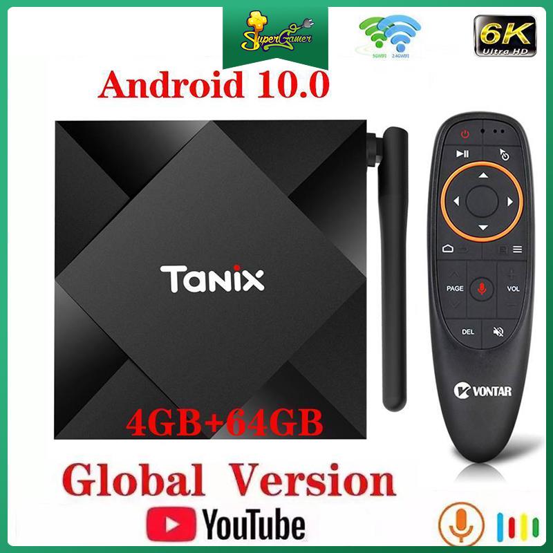 Hộp TV TANIX Tx6S Android 10.0 Allwinner H616 Max 4gb Ram lõi tứ 6k Wifi Tx6 chất lượng cao