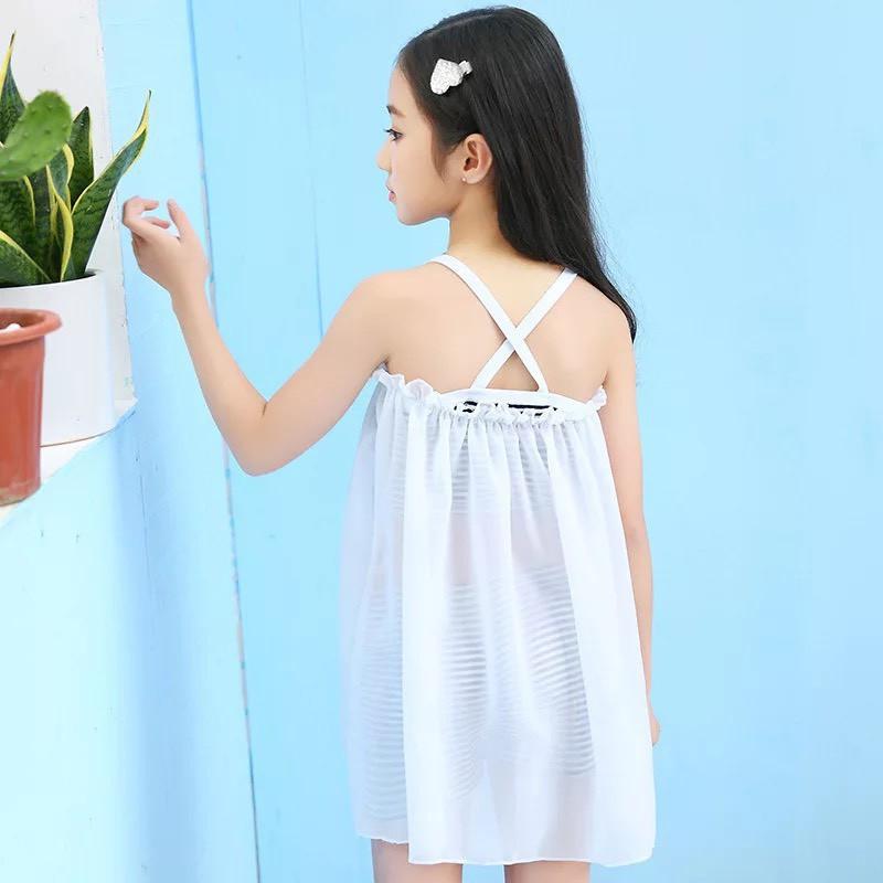 Bộ đồ bơi bikini bé gái 3 chi tiết, 3 kiểu mặc mẫu mới 2019 size cho bé từ 20-30kg