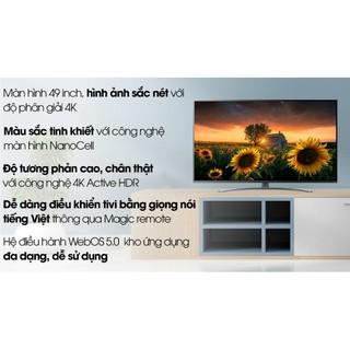 Smart Tivi NanoCell LG 4K 49 inch 49NAN081TNA.FULLBOX( Bảo Hành chính hãng 2 Năm)