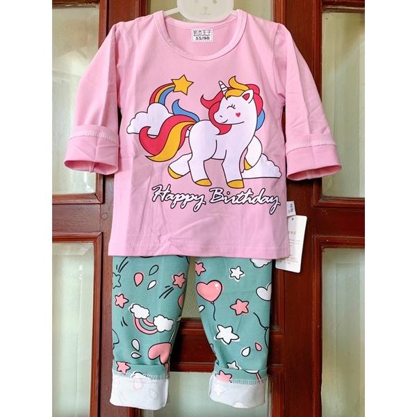 Bộ thu đông Quảng Châu bé gái chất liệu cotton mềm mịn, màu sắc đẹp, mẫu mới.Hàng Xuất Hàn