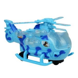 Đồ chơi máy bay trực thăng dành cho bé [có đèn và nhạc] – đồ chơi trẻ em tự xoay khi gặp chướng ngại vật