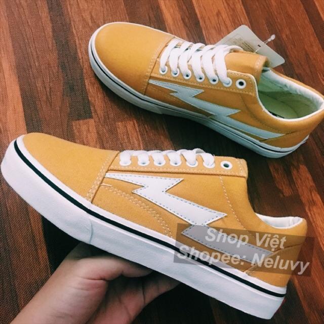 Giày thể thao Vans Tia Sét VNXK màu vàng size 36-39