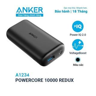 Sạc Dự Phòng ANKER PowerCore Redux 10000mAh - A1234 - Công Nghệ PowerIQ và VoltageBoost độc quyền - Hàng Chính Hãng thumbnail