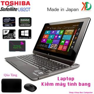 Laptop 2 trong 1 cảm ứng Toshiba Satellite U920T Core i5-3317U, 4gb ram, 128gb SSD, 12.5inch bàn phím trượt
