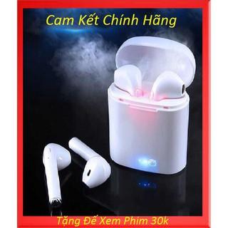 Tai nghe Blueouth hai bên kèm mic I7s cao cấp, kèm cáp sạc, phù hợp các dòng điện thoại ( Bộ gồm 2 tai )