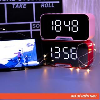 [Mã ELFLASH5 giảm 20K đơn 50K] Loa Gương Bluetooth G10 | Đài FM - Tích Hợp Đồng Hồ - Màn Hình Gương
