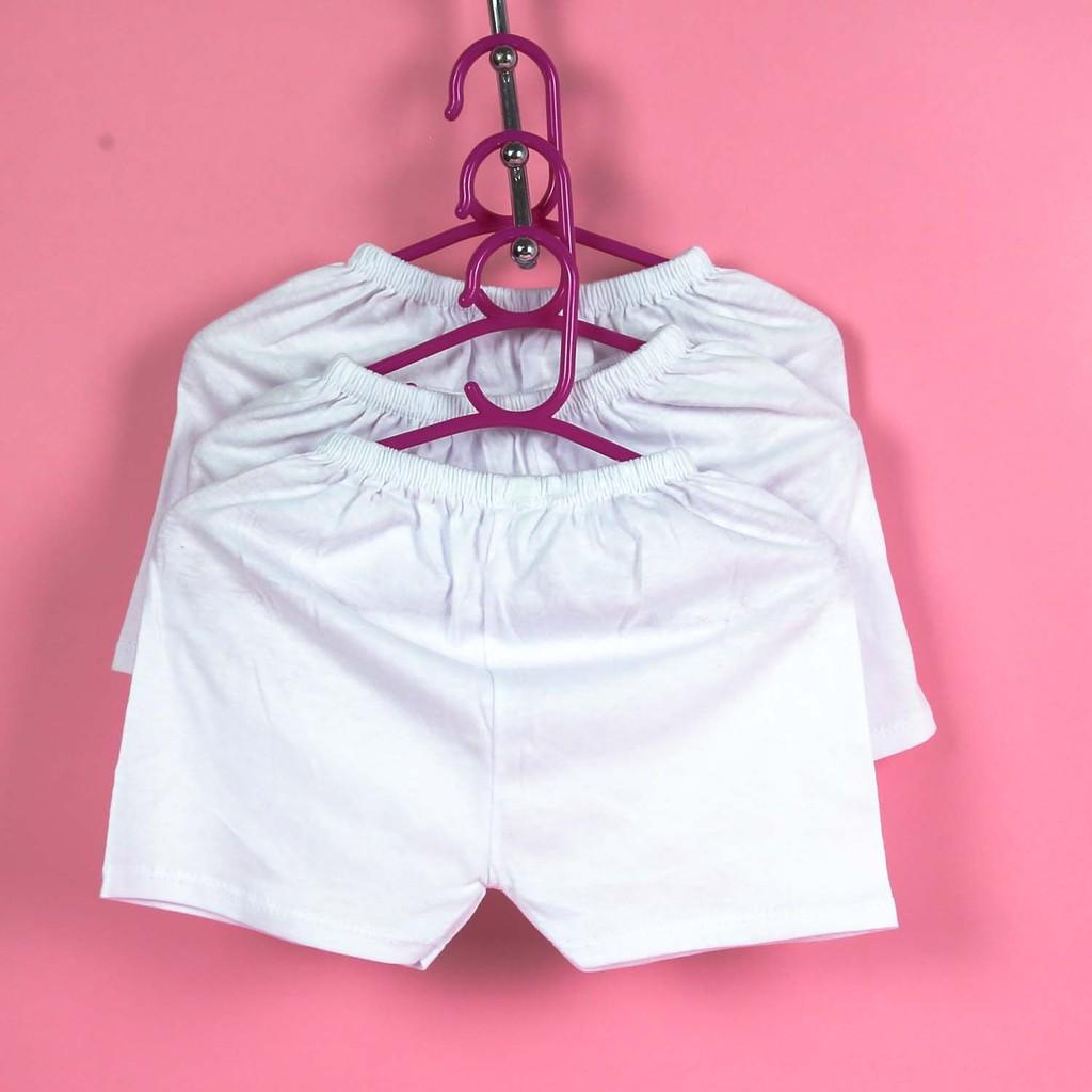 (Giá tốt nhất) Quần ngắn sơ sinh màu trắng Bosini cho bé từ sơ sinh đến 17kg. Quần đùi sơ sinh. Quần đùi chục