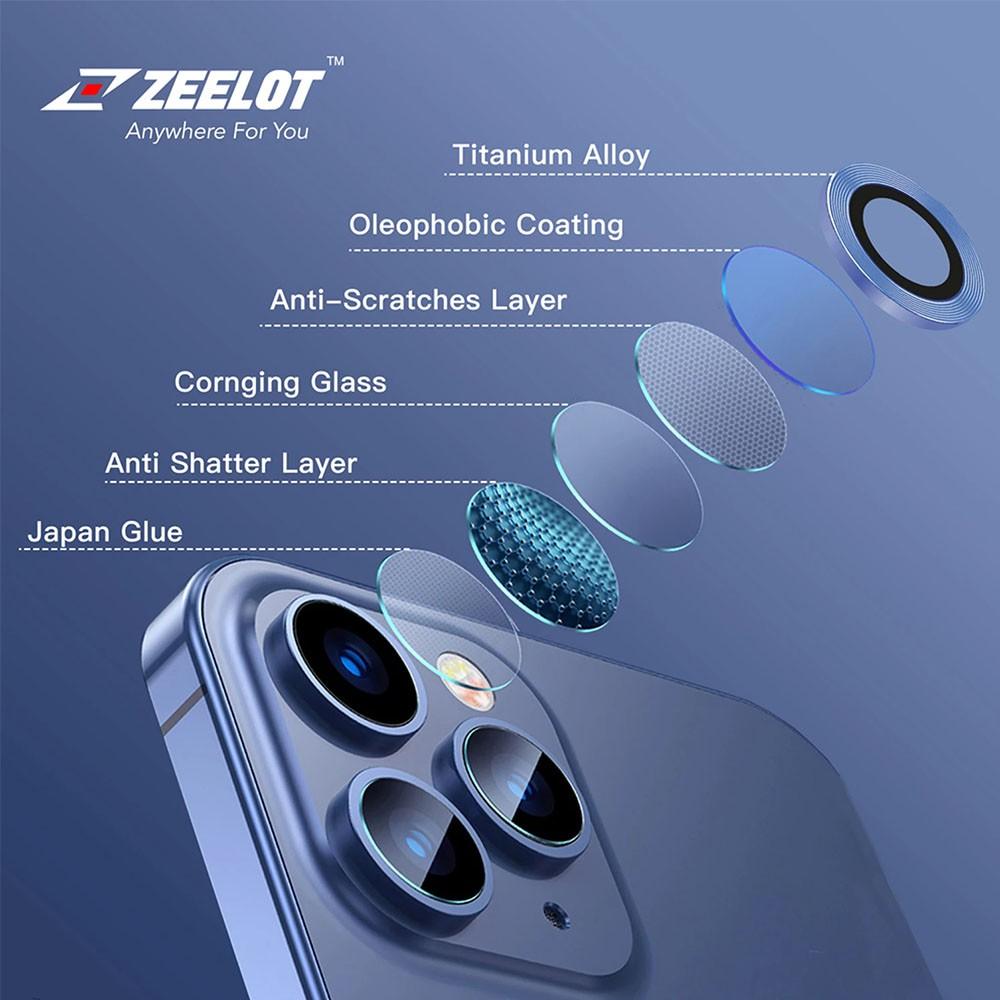 Kính Cường Lực Camera Lens Zeelot Titanium iPhone 12 Pro Max / 12 Pro / 12  / 12 Mini / 11 | Shopee Việt Nam