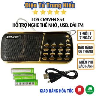 Combo Loa Đài Craven nghe thẻ nhớ, USB, FM, Máy nghe nhạc mini Tắm Ngôn Ngữ Caraven CR 853/836s