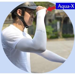 Găng Tay Dài Chống Nắng - Chống Tia UV AQUA-X Xỏ Ngón Loại Dày - Nhiều Màu thumbnail