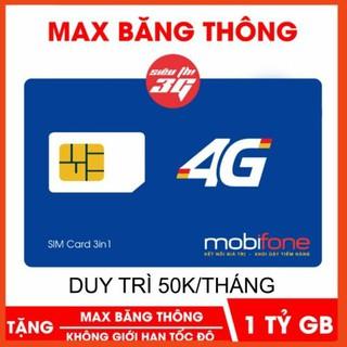Sim Max Băng Thông Mobifone – Sim 4g Mobifone 1 Tỷ GB/Tháng