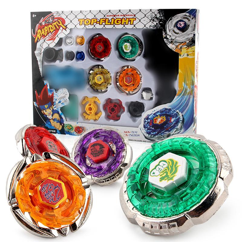For Beyblade Metal 4 Pcs Set 4D Game Gifts Gyro Launcher Fight Plate For Kids