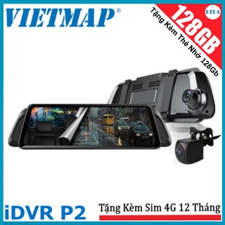 [Miễn Phí Lắp Đặt] Camera Hành Trình Vietmap iDVR P2 + [Sim 4G] + [Thẻ nhớ 128Gb]