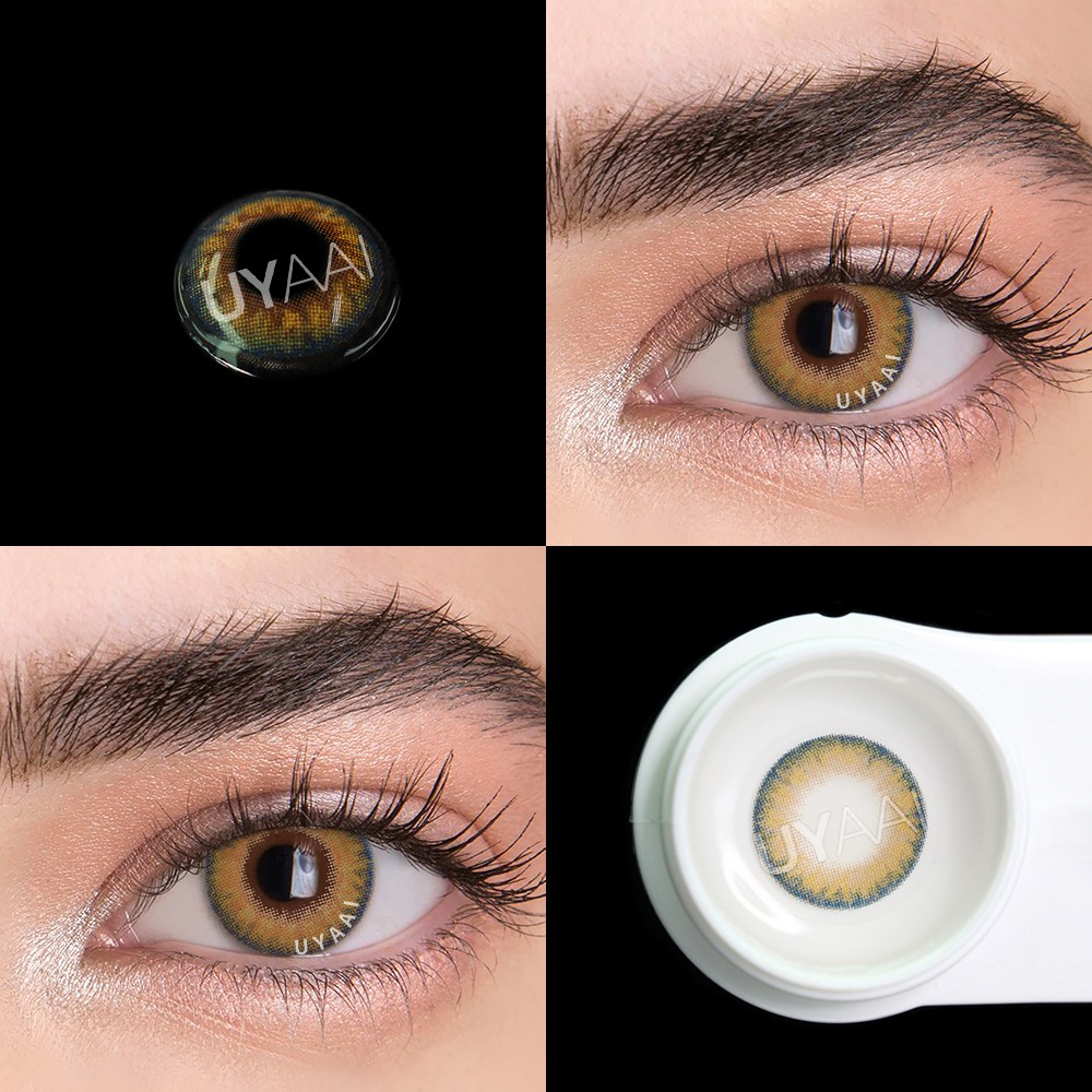 UYAAI 2Pcs/pairs Contact Lenses For Eyes Natural Cosmetics For Eyes Beauty Blue contact lens PRO series PRO india